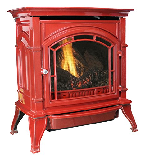 Ashley AGC500VFRLP Vent-Free Red Enameled Porcelain Cast Iron Stove, 31000 BTU (Porcelain Range Propane)