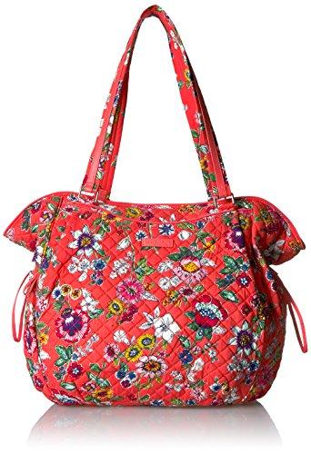 Shoulder Floral Bag Drawstring (Vera Bradley Iconic Glenna Tote-Signature, Coral Floral)