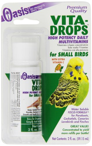 OASIS  #80257   Vita Drops for Small Birds, 2- ounce liquid multivitamin