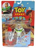 Toy Story Chrome Buzz Lightyear Action Figure with Flying Rocket Action by Thinkway Toys