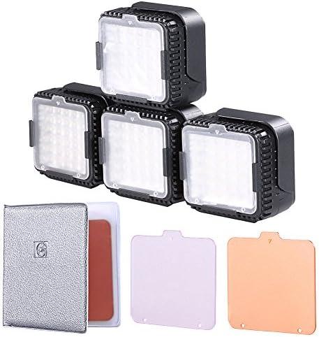 Neewer CN de LUX360 5400 K LED Regulable Lámpara de luz de vídeo para Canon Nikon videocámara DV de cámara (4 Unidades): Amazon.es: Electrónica