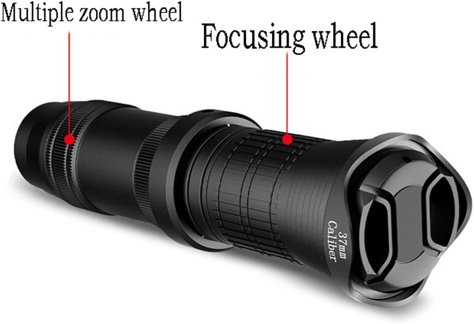 Mobile Camera Telescope GWX Mobile Phone Lens Telephoto Zoom 18-30X Concert Far Shot HD Remote External Camera for Travel and Concert Photo