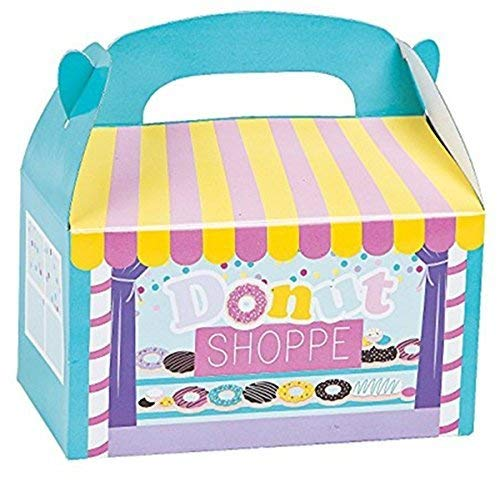 Fun Express 12 donut shop Treat party favor boxes - Great for Shopkins party ()