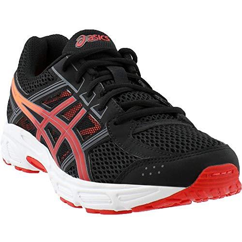 ASICS Unisex-Child Gel-Contend 4 GS Shoes, Size: 7 M US Big Kid, Color Black/Fiery Red/Shocking Orange