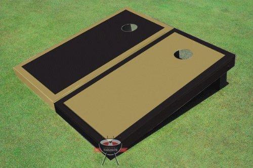 ダークゴールドとブラック交互Border Corn穴ボードCornhole Game Game Set Set B00CMDNN4I B00CMDNN4I, ayanas:df634c5e --- gamenavi.club