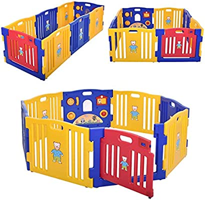 New 8 Panel Safety Play Center Yard Baby Playpen Kids Home Indoor Outdoor Pen