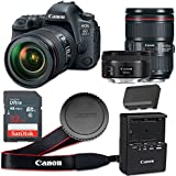 Canon EOS 6D Mark II 26.2 MP CMOS Digital SLR Camera with 3.0-Inch LCD with EF 24-105mm f/4L IS II USM Lens and EF 50mm f/1.8 STM Lens - Wi-Fi Enabled (Certified Refurbished)
