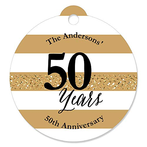 Custom We Still Do - 50th Wedding Anniversary - Personalized Anniversary Party Favor Gift Tags (Set of 20) ()