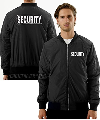 Choice4ever RED FACE Security Bomber Jacket (80% Cotton/20% Polyester) (Security Bomber)