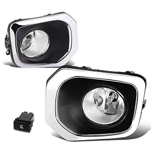 For Tacoma Pair of Bumper Round Driving Fog Lights+Switch (Clear Lens) ()