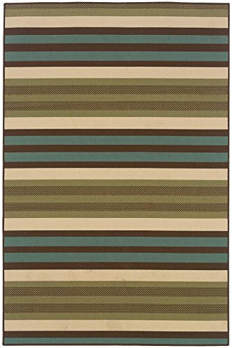 Candy Stripe All weather Area Rug, 1'8