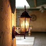 European Style Simple Mediterranean Outdoor Courtyard Waterproof Villa Corridor Balcony Aisle Glass Wall Lamp Light 200360Mm