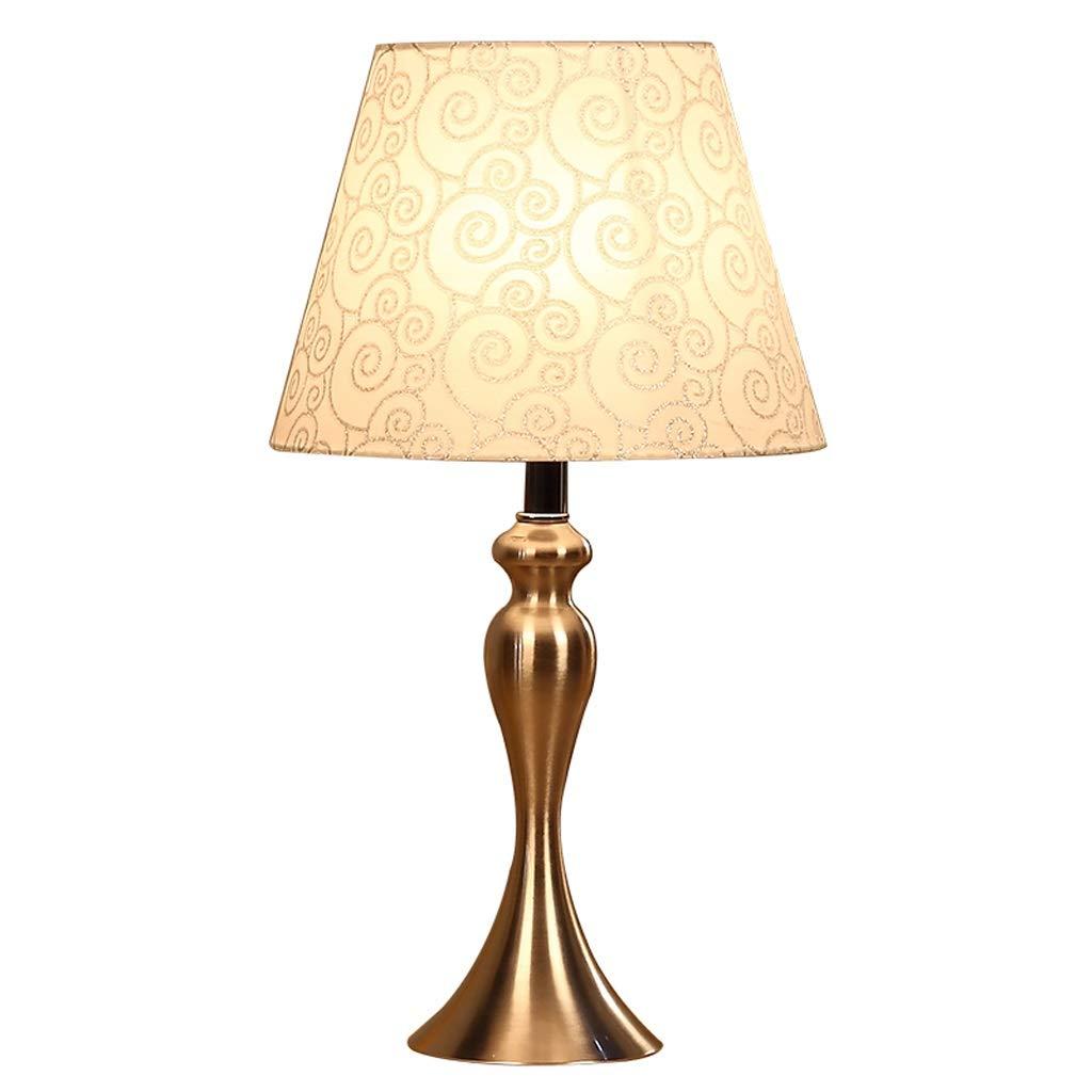 Hotel Tischlampe Einfache schlafzimmer eisen nachttischlampe, kreative mode wohnzimmer studie dekoration warme dimmen lampen A+ (Farbe   A-Remote)