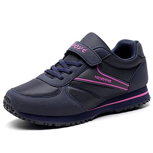 Señoras Zapatos de red Madre Deportivos la la de Deportivas Ligeras Zapatos plum Primavera blue Antideslizante Hasag Zapatillas Suave Las de Parte Ocasionales Dark Inferior FInxtf8wq