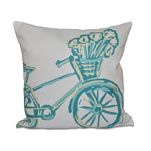 E By Design La Bicicleta Geometric Print Pillow, 20-Inch ...