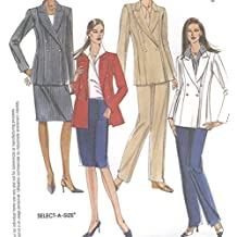 Misses Lined Double Breasted Jacket Sleeveless Wrap Shirt Pants Skirt Sewing Pattern McCall 3579 Size 12-14-16