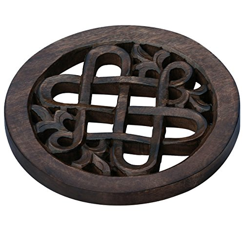 SALE on Trivet – Wooden Handmade / Handcarved Hot Pot Trivet for Hot Dishes Hot Pans, Hot Cookware and Serving Dishes – Dining Table / Kitchen Decor