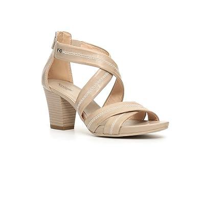 17590 SABBIA Scarpa donna sandalo tacco Nero Giardini pelle made in italy:  Amazon.it: Scarpe e borse