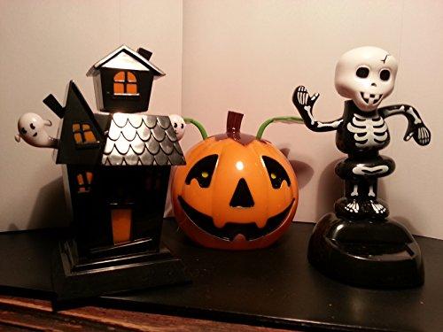 Halloween Pumpkin Skeleton Amp Haunted House Solar Dancing