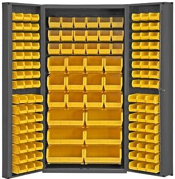 Durham Heavy Duty Welded 14 Gauge Steel Cabinet With 132 Bins, DC BDLP