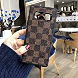 KaiyoKumi~ Case Cover for Samsung Galaxy S10 E Plus S9 Plus Note9 Luxury PU Leather Plaid Style FlipCover Case Compatible for Samsung (Brown Plaid, Galaxy S9 Plus)