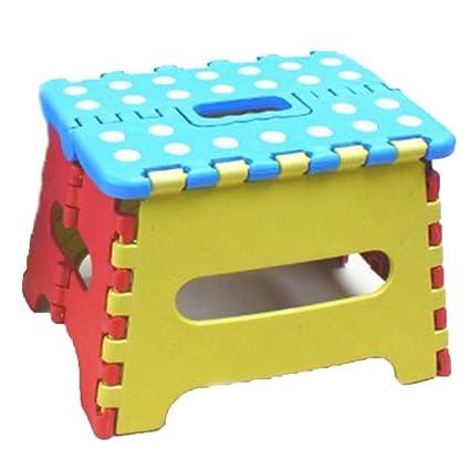 Peachy Amazon Com Ranranhome Folding Step Stool 8 Height Machost Co Dining Chair Design Ideas Machostcouk