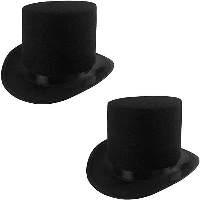 Black Top Hat Magician Costume Tuxedo Mat Hatter Wedding Christmas Party Form G4