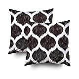 ROOLAYS Decorative Throw Square Pillow Case Cover 16X16Inch,Cotton Cushion Covers ikat background pattern Both Sides Printing Invisible Zipper Home Sofa Decor Sets 2 PCS Pillowcase
