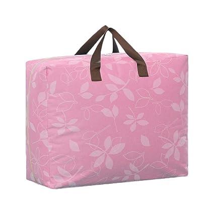 Bolsa de almacenamiento portátil Patrón de Flores a Prueba de Humedad Oxford Organizador de Viajes Edredón