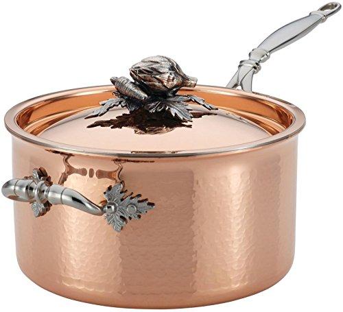 Ruffoni Opus Cupra 3-3/4-Quart Covered Saucepan, Copper (Style Mirror Tuscan)