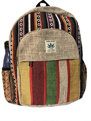 - Handmade Large Multi Color Hemp Laptop Backpack