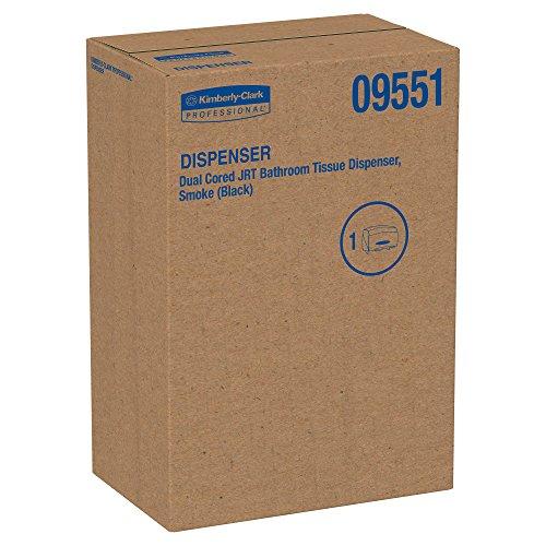 Kimberly-Clark Professional 09551 Cored JRT Jumbo Combo Tissue Dispenser, 20 2/5w x 5 4/5d x 13 1/10h, Smoke/Gray by Kimberly-Clark Professional (Image #2)