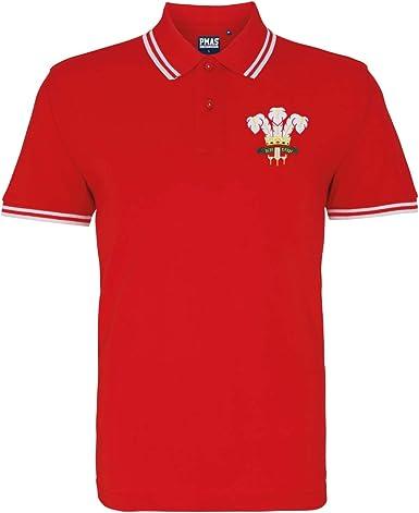 Retro para hombre escudo Gales Rugby – Polo para hombre ...