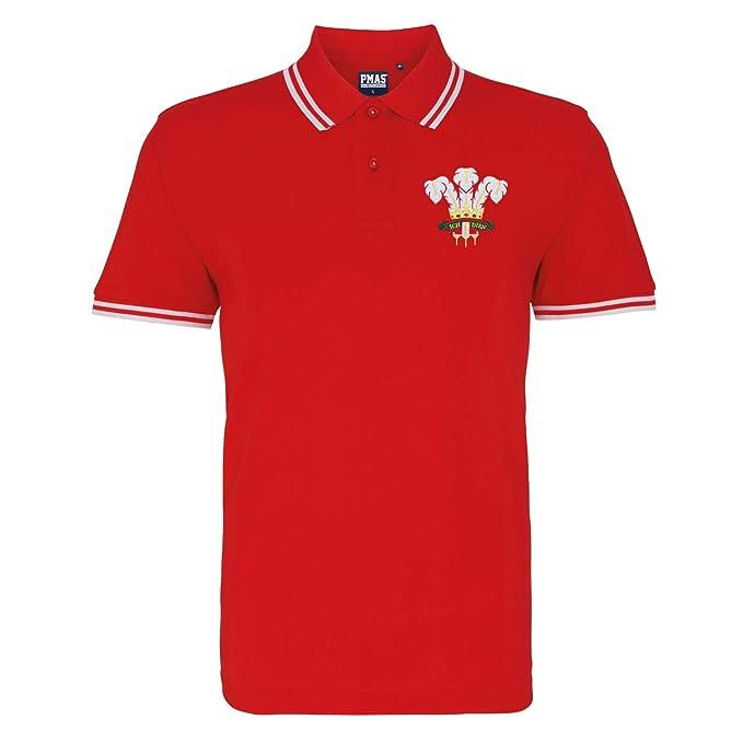Retro para hombre escudo Gales Rugby - Polo para hombre ...