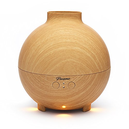 Paxamo 600ml Ultrasonic Oil Diffuser, High Capacity Globe Diffuser, Premium Therapy Air Freshener, Working Overnight for Large Room