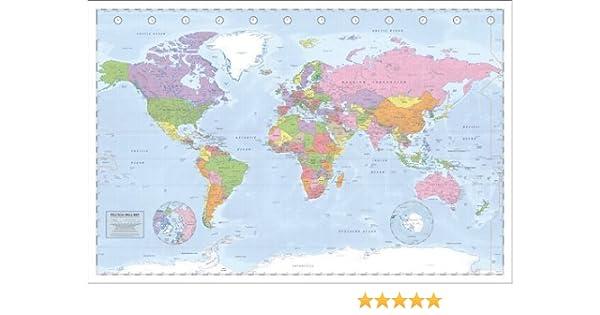 Póster Mapa Mundi Político 91,5x61cm Plastificado: Amazon.es: Hogar