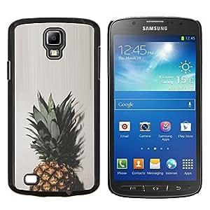 Top Verde Marrón Blanco simplista- Metal de aluminio y de plástico duro Caja del teléfono - Negro - Samsung i9295 Galaxy S4 Active / i537 (NOT S4)