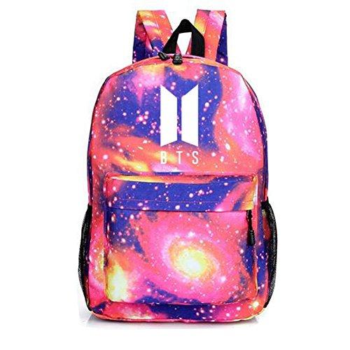 Laptop Boys Daypack Starry Satchel Bags Casual Sky Pink BTS Bangtan Kpop Schoolbag Backpack qztvSv