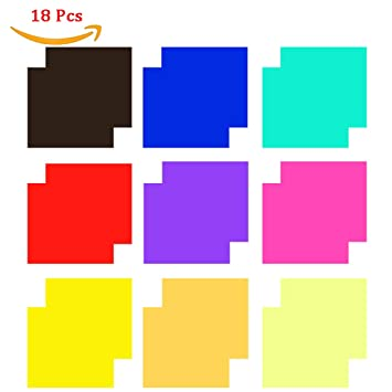 Amazon.com : 18 Pack Colored Overlays Transparency Color Film ...
