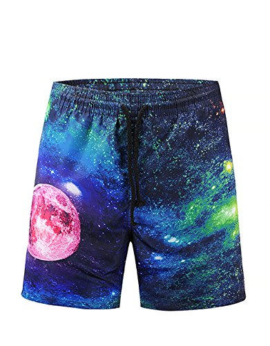 Hawaiian Print Swim Trunks (Men's 3D Floral Print Board Shorts Swim Trunks Aloha Hawaiian Beach Shorts (STYLE-11, M))