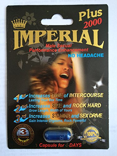 Imperial 2000mg PLUS Male Sexual Performance Enhancement Pill 6 PK (Pill Enhancement Performance Male)