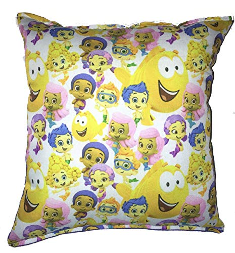 "Bubble Guppies Pillow Guppy Pillow Rare Fabric Pillow HANDMADE in USA NEW Pillow is approximately 10"" X 11"""