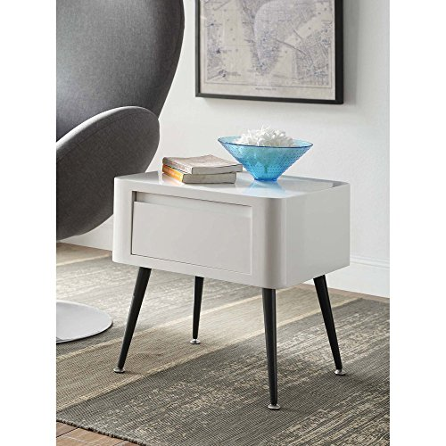 Cheap 4D Concepts End Table in Black and White
