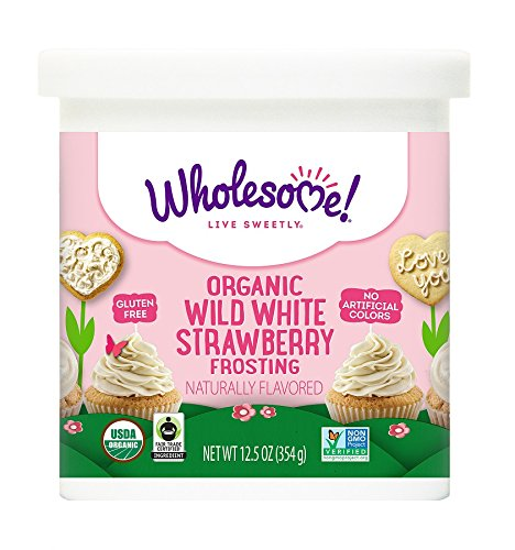 Wholesome Sweeteners Organic Frosting, Wild White Strawberry, 12.5 (Strawberry Sugar Cookies)