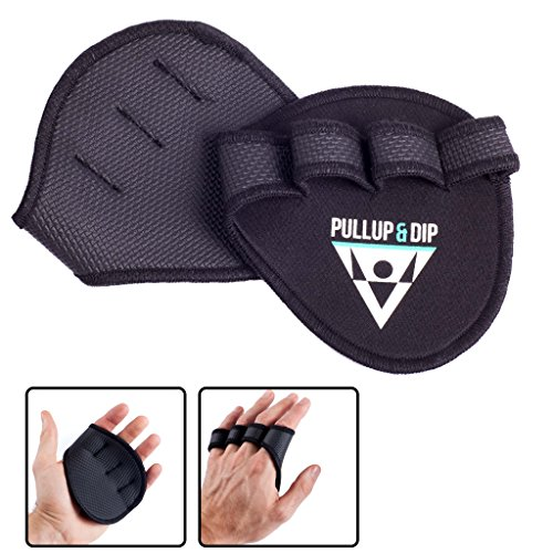 PULLUP & DIP Neoprene Grip Pads Lifting Grips, The Alternative to Gym Workout Gloves, Lifting Pads for Weightlifting, Calisthenics & Powerlifting, No More Sweaty Gym ()