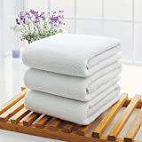 XYFL Extra Absorbent Quick Dry Towels 100% Pure Egyptian Cotton Bathroom Towel Bale Bundle Bath Fashions Collection Set White(3 Pieces)