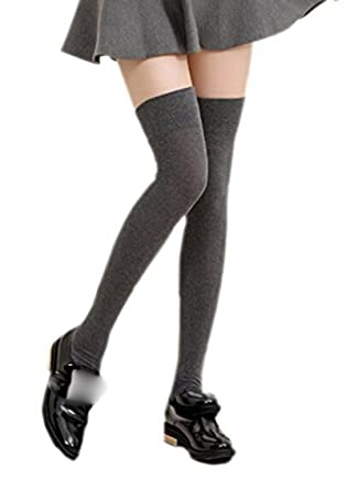 9527e9b12 Over The Knee Socks Available Various Colours (black)  Amazon.co.uk   Clothing