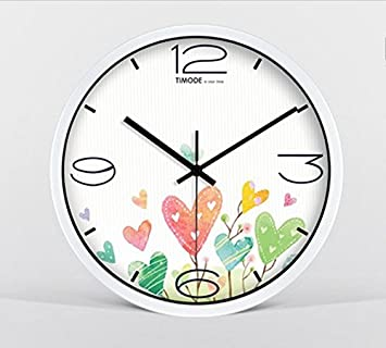 Estilo europeo creativo simple Industrial estilo Wa creativo dibujos animados flores relojes Simple Digital Creativa relojes