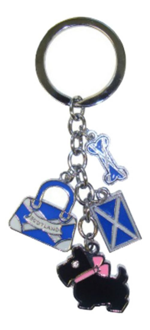 魅了 Multi Scottish Flag Bag Dog Multi Flag and Scottish Bone Keyring B007OBKD2I, ぶんぐる:a768d774 --- yelica.com