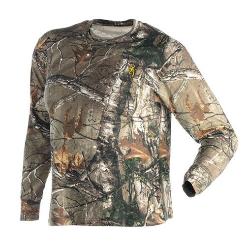 Browning Wasatch Long Sleeve T-Shirt, Realtree Xtra, Large